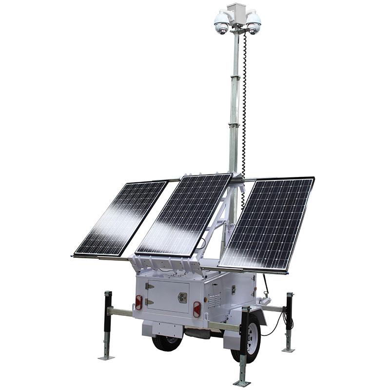 Solar CCTV Surveillance & Security Trailer Rental