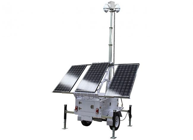 Solar CCTV Surveillance & Security Trailer