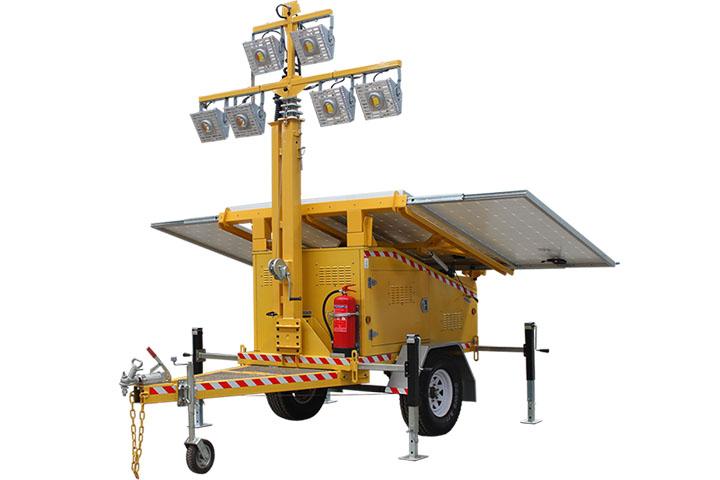 Halcyon Solar Led Light Tower Trailer Rental San Diego