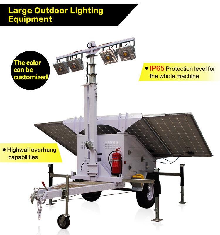 Solar LED Light Tower / Trailer Rental San Diego